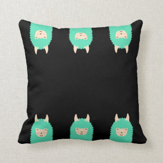 Peekaboo Llama Emoji Throw Pillow