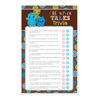 PeekaBoo Monsters Baby Shower Game Old Wives' Tale 14 Cm X 21.5 Cm Flyer