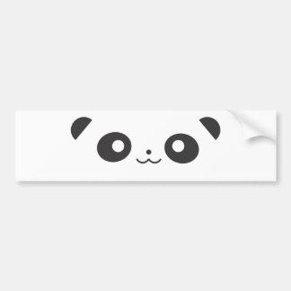 Peekaboo Panda Bumper Sticker