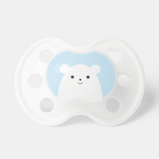 Peekaboo Polar Bear Baby Pacifier