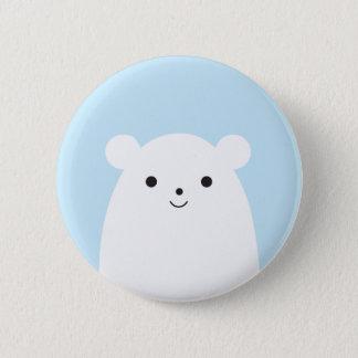 Peekaboo Polar Bear Button