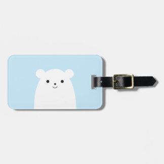 Peekaboo Polar Bear Luggage Tag
