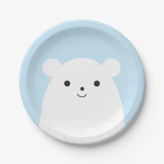 Peekaboo Polar Bear Paper Plate