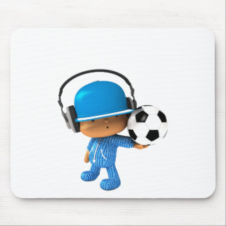 Peekaboo Superstar soccer edition Mouse Pad