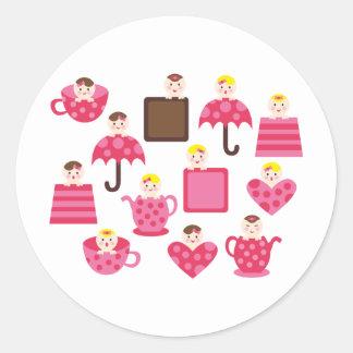 PeekABooBabies1 Round Sticker