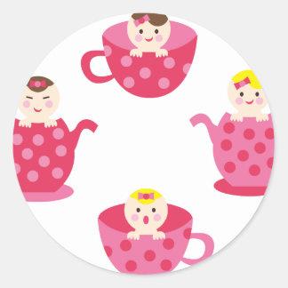 PeekABooBabies2 Round Sticker