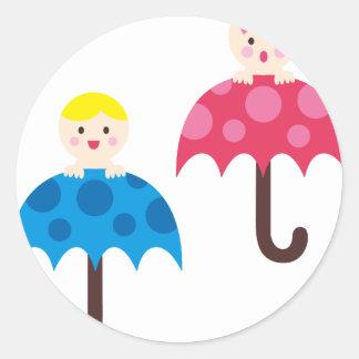 PeekABooBabies4 Round Sticker