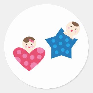 PeekABooBabies5 Round Sticker