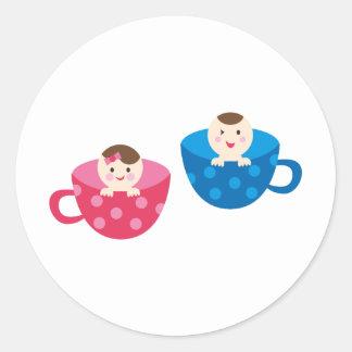 PeekABooBabies9 Round Sticker