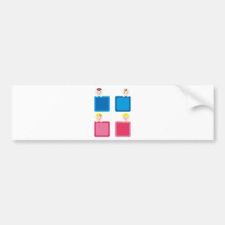 PeekABooBoys4 Bumper Sticker