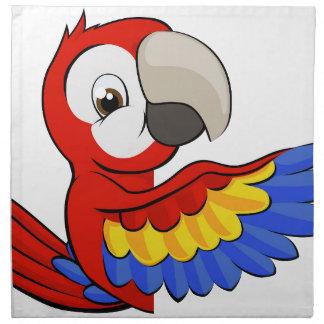 Peeking Cartoon Parrot Napkin
