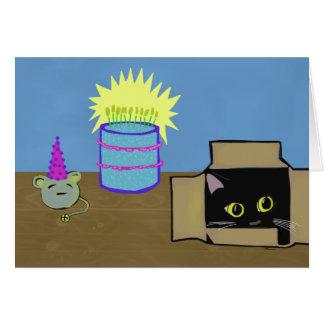 Peeking Cat Party Greeting Card