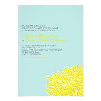 Peeking Chrysanthemum Wedding Invitation