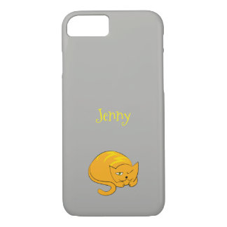 Peeking Kitty Cat Cartoon iPhone 8/7 Case
