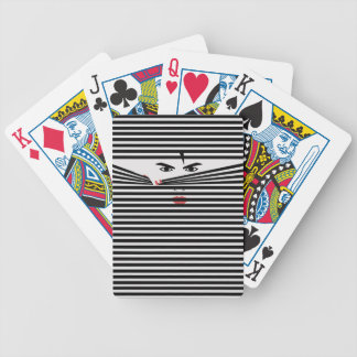 Peeking Man (White) Playing Cards