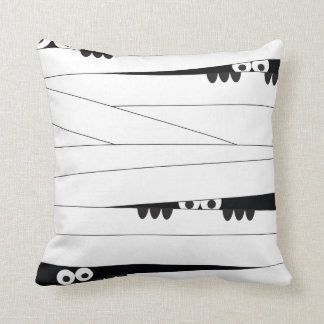 Peeking Mummy Throw Pillow