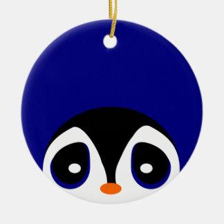 Peeking Penguins Christmas Ornament