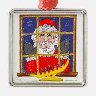 Peeking Santa Ornament