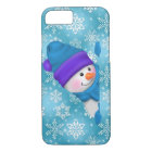 Peeking Snowman iPhone 7 barely there case