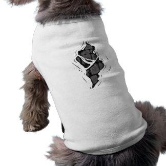 Peel away dog t shirt