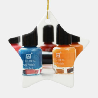 peel off nail colours .,., Double-Sided star ceramic christmas ornament