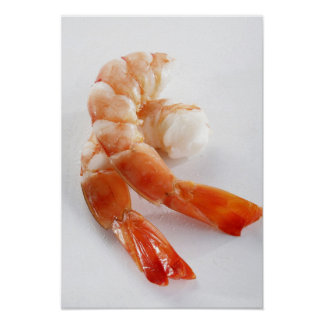 Peeled and cooked shrimp from a breeding - poster