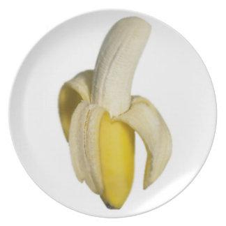 """Peeled banana"" design plates"