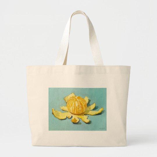 Peeled Clementine Still-life Large Tote Bag