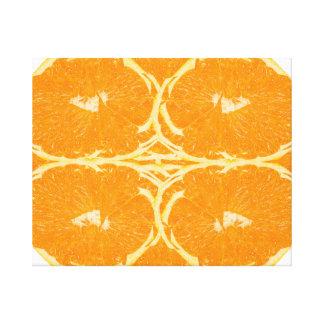 Peeled Orange Fruit Spirit Aesthetics Fine Art Canvas Print