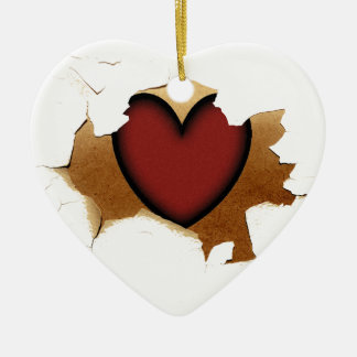 Peeling/Cracking with Rustic Heart Christmas Tree Ornaments
