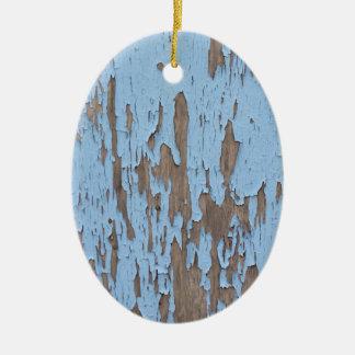 Peeling Paint Ceramic Oval Decoration