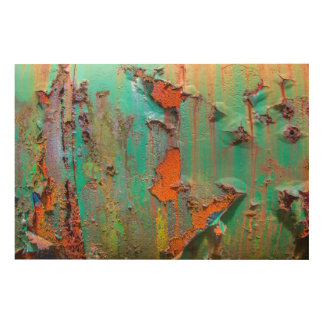 Peeling Paint Wood Wall Decor