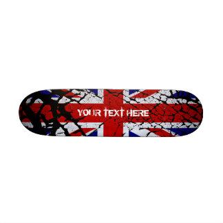 Peeling Union Jack Flag of The UK Skate Boards
