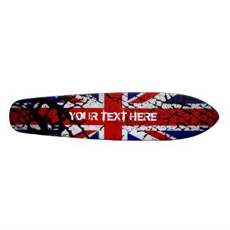 Peeling Union Jack Flag of The UK Skate Deck