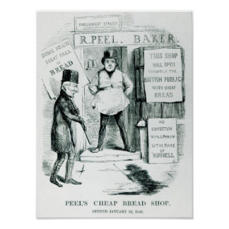 Peel's Cheap Bread Shop Poster