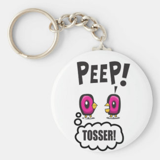 PEEP! BASIC ROUND BUTTON KEY RING