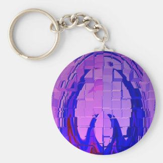 PEEP into my PINK BLUE World Basic Round Button Key Ring