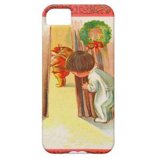 Peeping at Santa iPhone 5 Case