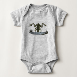 Peeping Frog Bodysuit for Fledgling Frog Lovers