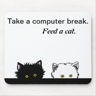 Peeping Kittens Mouse Pad