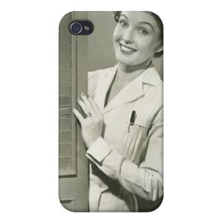 Peeping Nurse iPhone 4 Cases