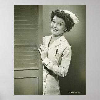 Peeping Nurse Posters