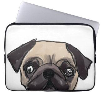 Peeping Pug Laptop Sleeve