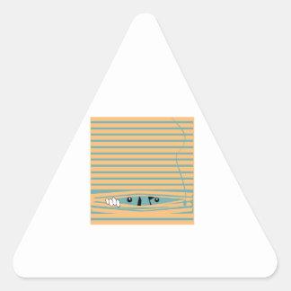 Peeping Tom Triangle Sticker