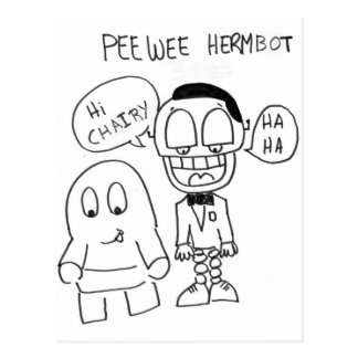 PeeWee HermBot Postcard