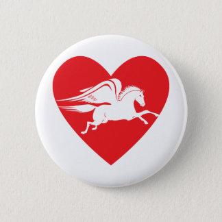 Pegasus 6 Cm Round Badge