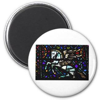 pegasus 6 cm round magnet