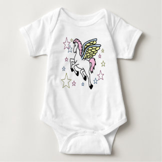 Pegasus and Stars Baby Bodysuit