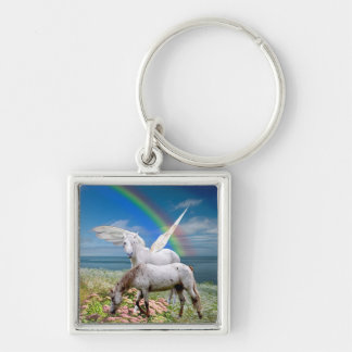 Pegasus and Unicorn Key Ring