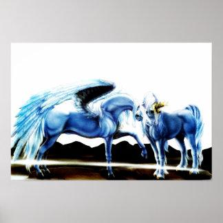 Pegasus And Unicorn Poster